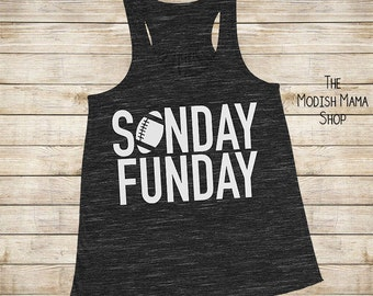 Sunday Funday - Football shirt - Sunday Football shirt - football tank - women's football shirt - racerback tank - women's football tank top