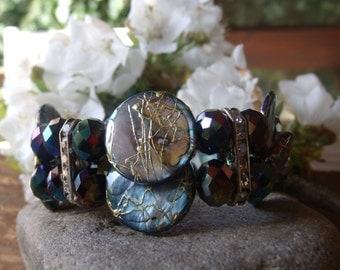 Elegant bracelet with Rhinestone-Stegen