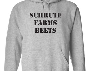 Schrute Farm Beets costume funny tv show retro office dwight vintage - Apparel Clothing - Hoodie - Hooded Sweatshirt - 63