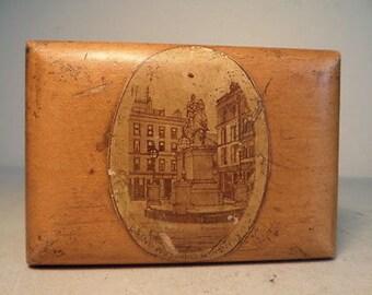 Antique Victorian Fine Detailed Wooden Advertising Box - 1903