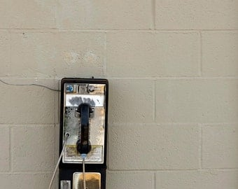 Photo Print -  Vintage Touch Tone Phone Photo - Pay Phone - Public Telephone - Telephone