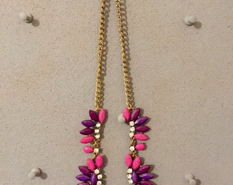 Bright Pink and Purple Necklace
