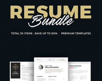 30 Best Selling Resume MEGA Bundle!