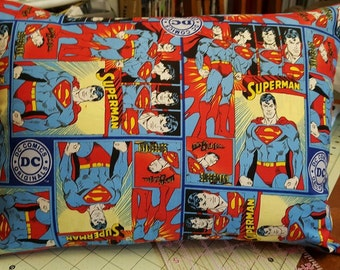Superman 12x16 Decrative Throw Pillow Cover with Insert