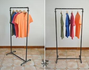 Portant pour vêtements, plumbing, industriel, vintage, clothing rack, , industrial pipe shelf, ironwoodstache, penderie