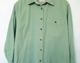 Mint Green Courduroy Shirt