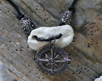 Limestone and Compass Necklace