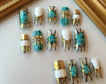 Egyptian Turquoise Nails