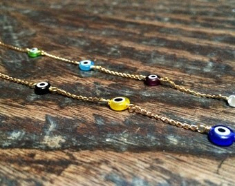 Turkish eye necklace, evil eye necklace, protection necklace, evil eye jewerly