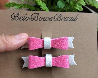 Bow Headband - Glitter Foam Material - Clip or headband