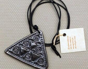Ceramic series africa pendant necklace