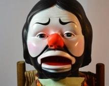 Vintage Horsman, Emmett Kelly, Ventriloquist Clown, Vinyl Clown, Collectible Clowns, Hobo