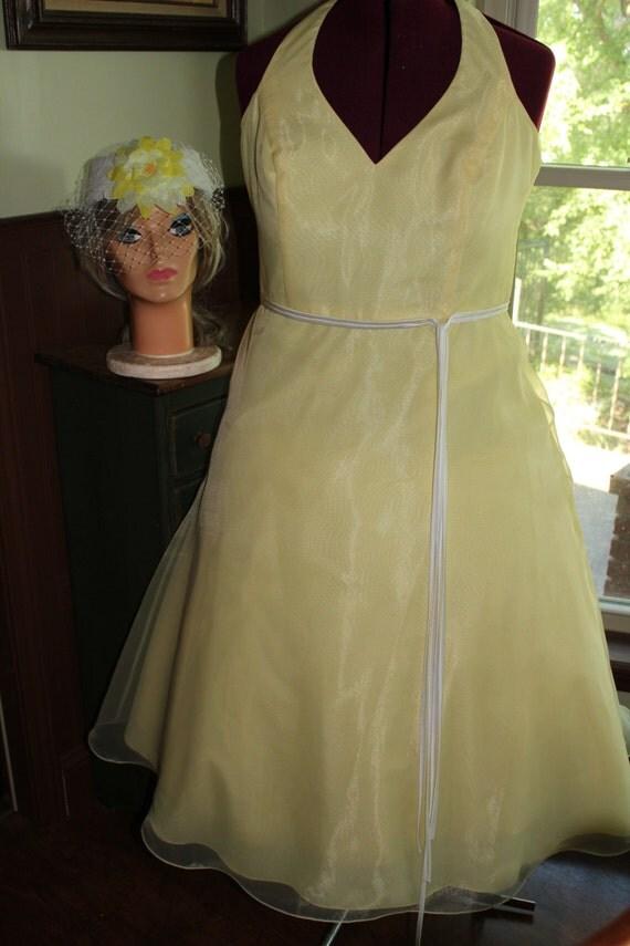 SALE! Party Dress, Easter Dress, Bridesmaid Dress, Retro style Prom Dress, Size 16W, Size 20 US