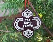 Personalized Polynesian Themed Christmas Ornament - Single Ornament