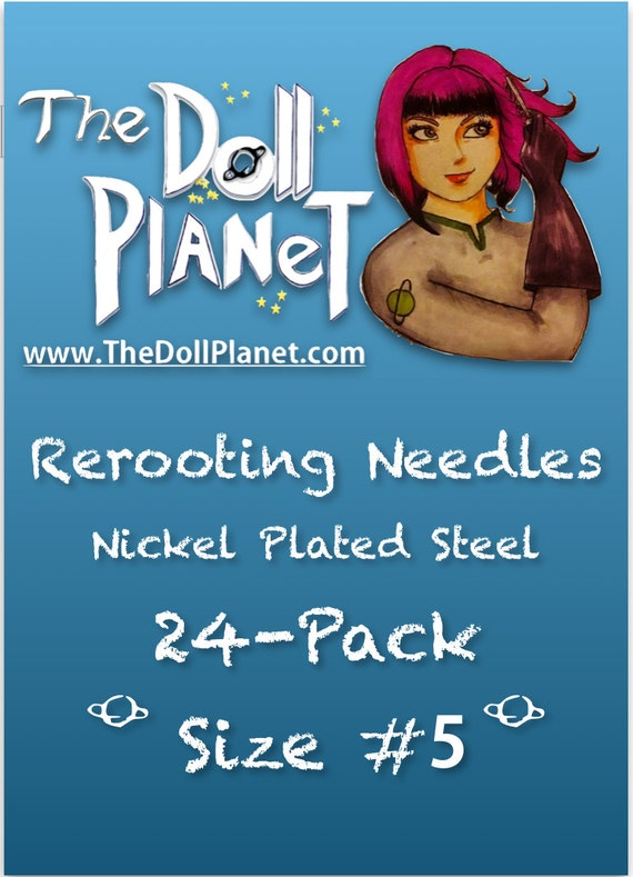 24-Pack #5 Rerooting Needles Cut Steel For Rerooting Barbie, Monster High, Ever After High, Disney, My Little Pony Int Ship