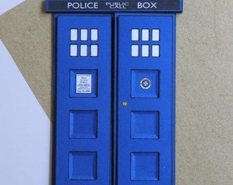Dr Who Tardis, 3D Card