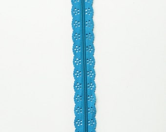 12 Inch Lace Zipper - Turquoise Lace Zipper - Closed End Zipper - Dress Sewing - Handbag Sewing Zipper - Zippers Canada - YKK Zip - Zippers