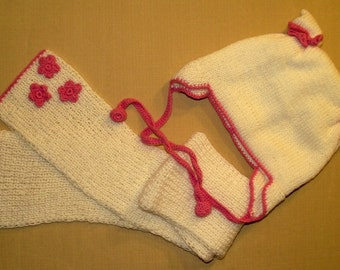 HAT and SCARF set for girls 3-5 years hand crocheted winter hats gift ideas, fashion accessories for little princesses