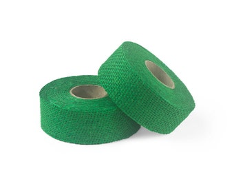 "8oz Green Burlap Ribbon Roll - 10 Yards Long, 1.5"" and 3"" Widths Available, Multiple Pack Sizes Available"
