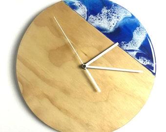 Blue Waves Clock