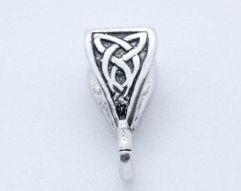High End Celtic Braid Bail - Large Sterling Silver