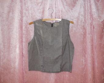 vintage gingham blouse size M/L