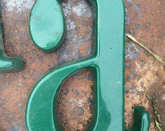 3D Vintage Kelly Green Lowercase Letter A