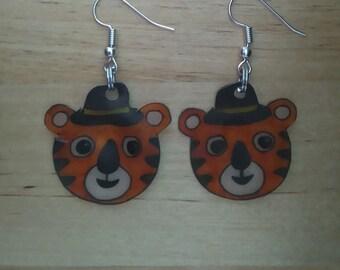 Tiger Hat earrings