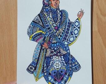 Arab Queen - A6 postcard print