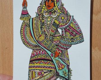 West African Queen - A6 postcard print