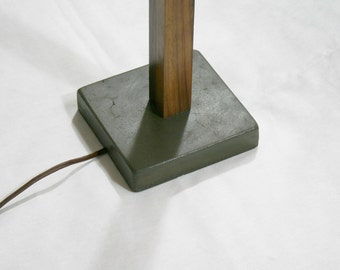 Concrete Walnut Lamp