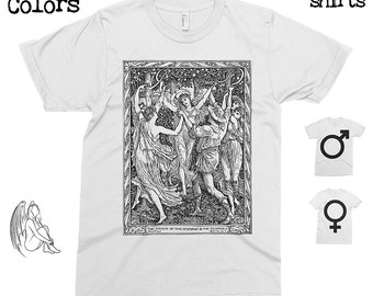 The Dance of the Nymphs - Walter Crane  T-shirt, Tee, American Apparel, Art, Illustration, Cute Gift