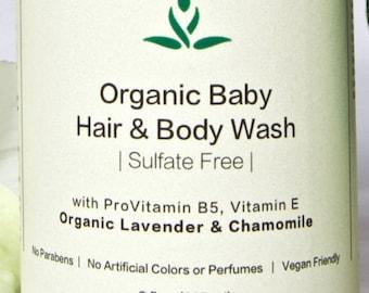 Organic Baby Hair & Body Wash - Sulfate Free