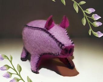 SALE Stuffed Animal Pig - Lavender