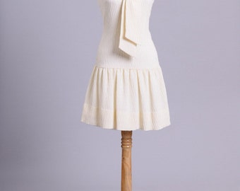 1960 Mary Jane Knit Vintage Wedding Dress