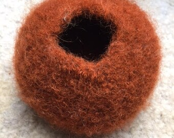 Felted Pods - Brown