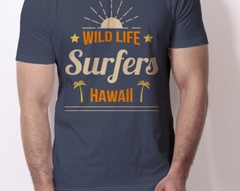 Shirt Surfers Hawaii - Summer 2016 - 100% Cotton - Posibility of Personalization