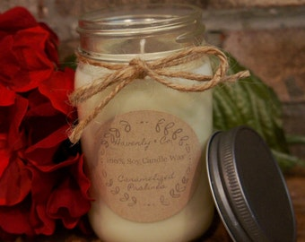 16 Ounce Mason Jar 100% Soy Holiday/Winter Scented Candle