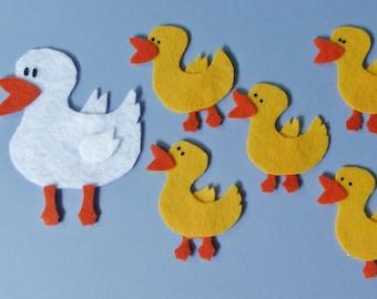 Felt Board Set, Felt Ducks, Flannel Board Story, Five Little Ducks, Felt Song, Librarian Gift, Teacher Gift, Circle Time, Teacher Story Time