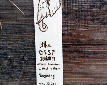 Unique Wooden Elephant Bookmark