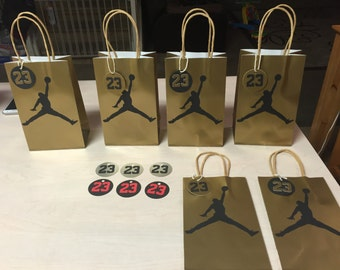 Jordan Gift Bags with Gift tags