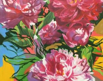 Original Oil Painting of Pink Peonies I