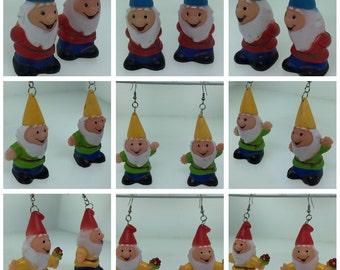 Gnome Finger Puppet Earrings