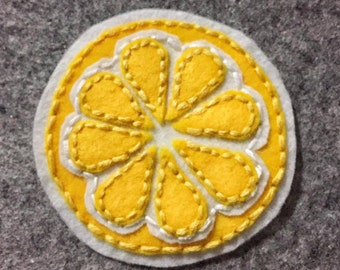 Lemon felt patch