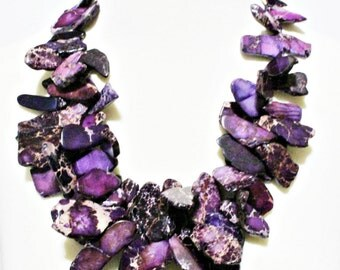 Purple Jasper Nest Statement Necklace