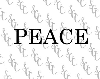 Reusable Stencil - PEACE - Many Sizes to Choose from!