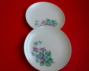 Vintage melamine plates, Royalon melmac plates, Corsage Melmac Plates, retro dinnerware, retro melamine