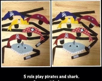 Five little pirates bandana set