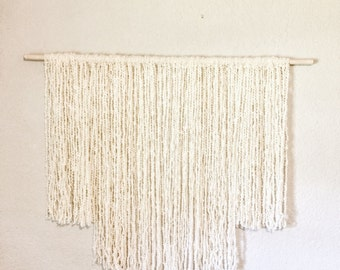 Yarn Wall Hanging - Textured Cream