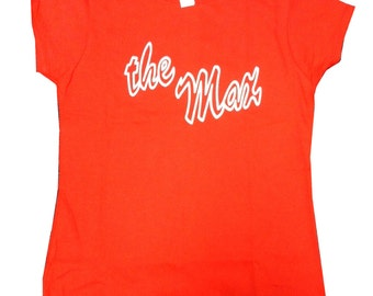 The Max Womens T-shirt As Kelly Kapowski Wears As A Waitress On Saved By The Bell TV Show Shirt Restaurant Hangout SBTB 90s Costume Red